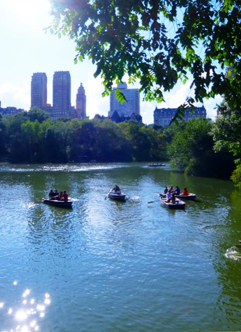 暑い夏の日にぴったり、セントラルパーク最大の湖(The Lake)の貸しボート_b0007805_06413749.jpg