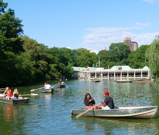 暑い夏の日にぴったり、セントラルパーク最大の湖(The Lake)の貸しボート_b0007805_06485326.jpg