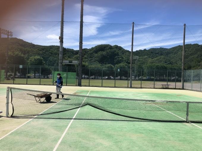テニスコート砂入れ_d0155416_12445462.jpeg