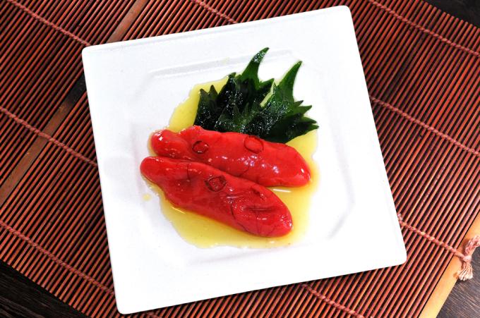 メシ通『魚介を使った簡単レシピ』 ☆ たらこをオイル漬けに!_d0069838_09342105.jpg