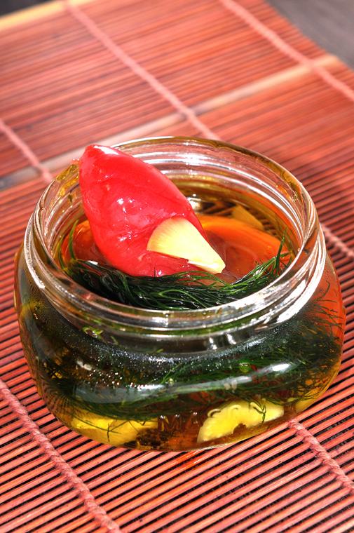 メシ通『魚介を使った簡単レシピ』 ☆ たらこをオイル漬けに!_d0069838_09342764.jpg