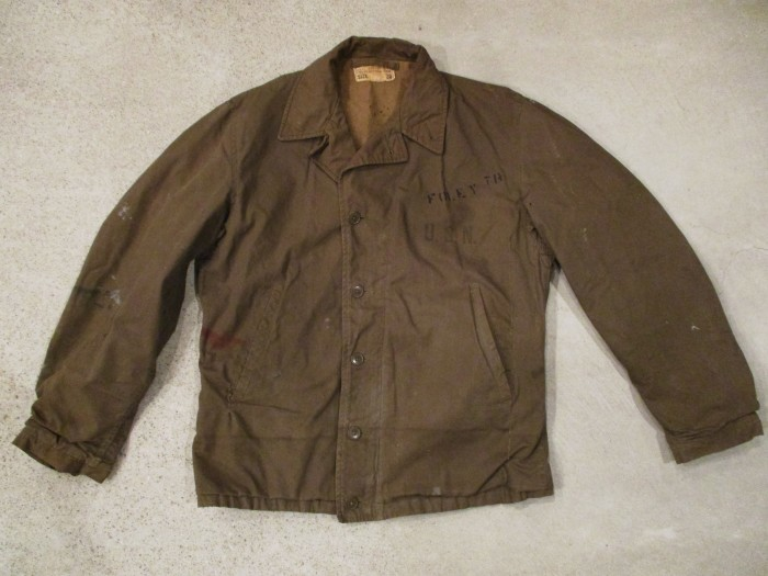 WWⅡ U.S.NAVY N-4 DECK JACKET ステンシル 雰囲気系_e0187362_19020047.jpg