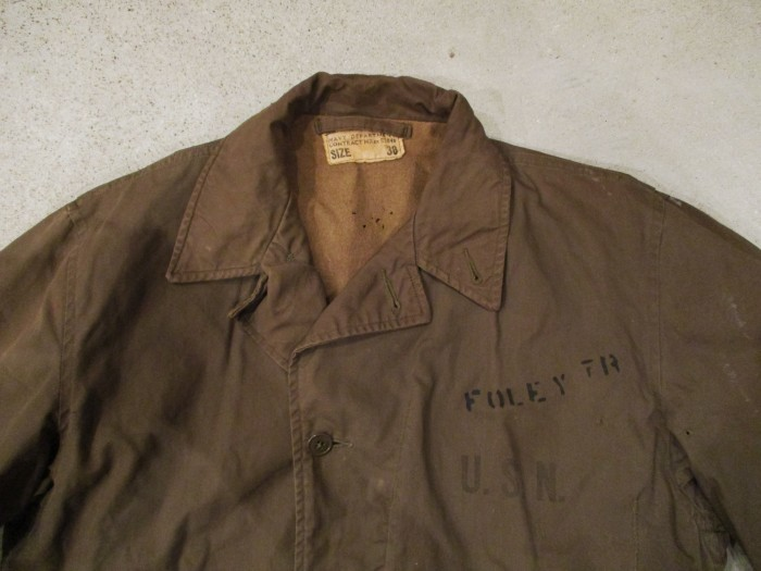 WWⅡ U.S.NAVY N-4 DECK JACKET ステンシル 雰囲気系_e0187362_19021805.jpg