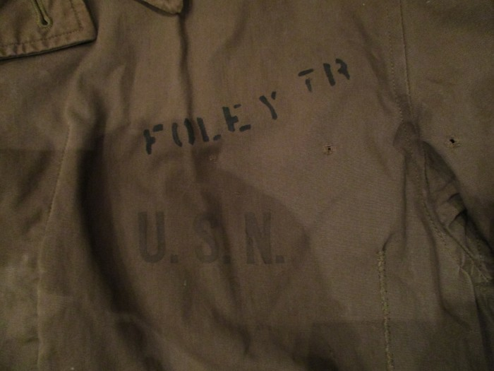 WWⅡ U.S.NAVY N-4 DECK JACKET ステンシル 雰囲気系_e0187362_19025915.jpg