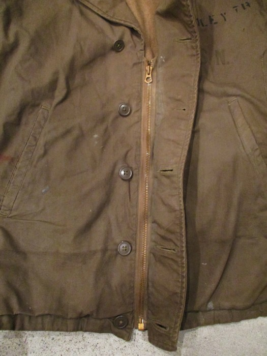 WWⅡ U.S.NAVY N-4 DECK JACKET ステンシル 雰囲気系_e0187362_19062662.jpg