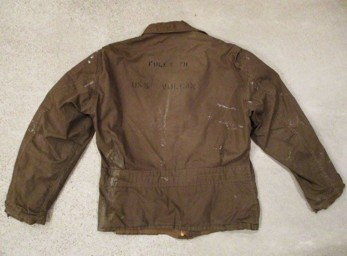 WWⅡ U.S.NAVY N-4 DECK JACKET ステンシル 雰囲気系_e0187362_19070485.jpg