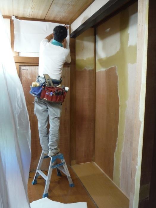 室内リフォーム ~ 和室の床とクロス工事_d0165368_09015953.jpg