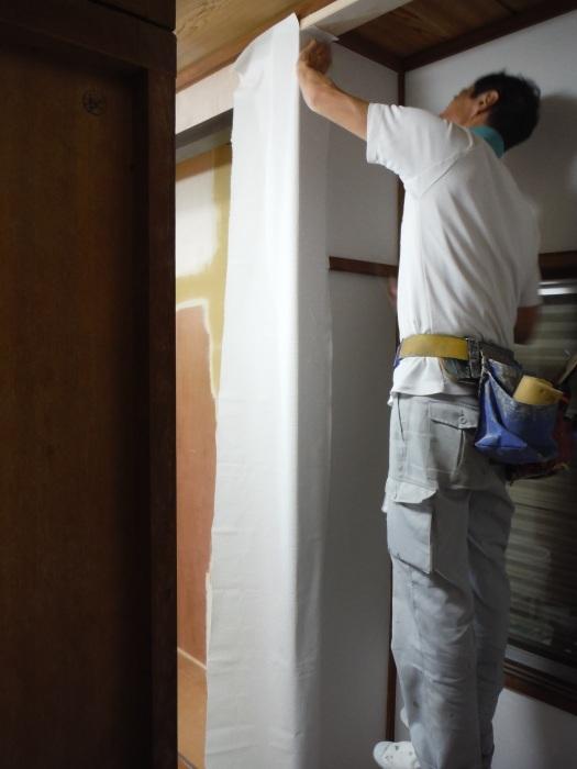 室内リフォーム ~ 和室の床とクロス工事_d0165368_09021210.jpg