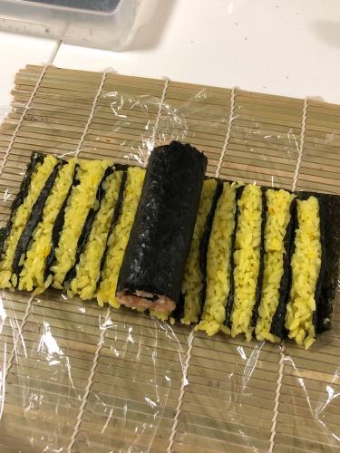 夏のお弁当対策 酢飯で飾りずし_b0048834_09400601.jpg
