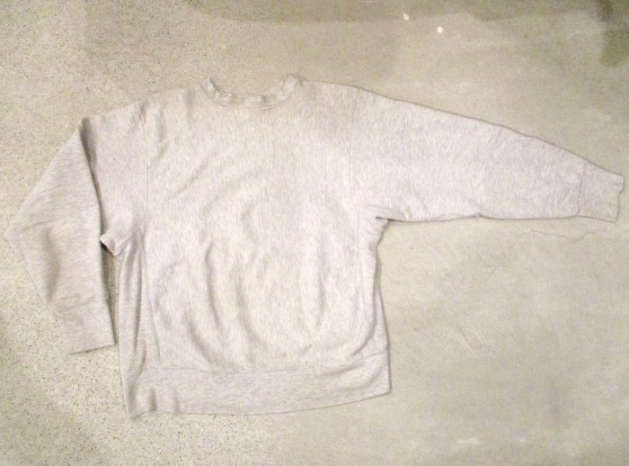 Early80\'s Champion Reverse Weave Solid Gray 無地 目無し チャンピオン リバース_e0187362_18260689.jpg