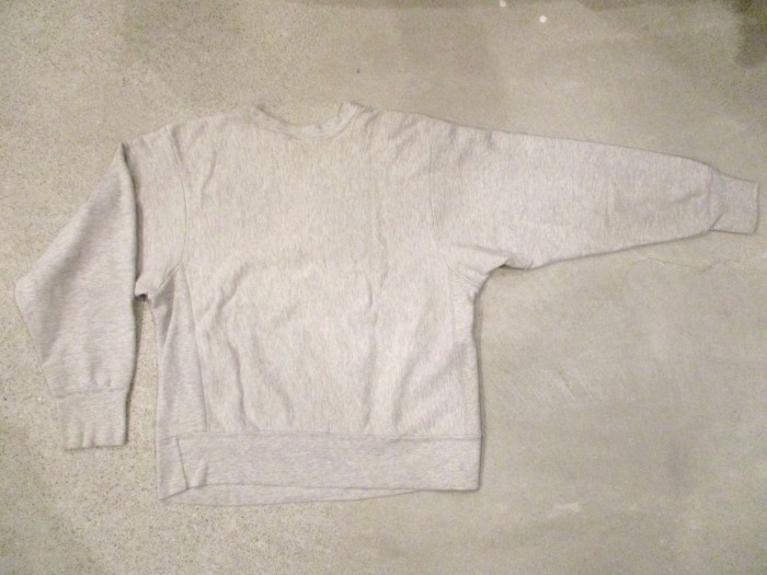 Early80\'s Champion Reverse Weave Solid Gray 無地 目無し チャンピオン リバース_e0187362_18343426.jpg