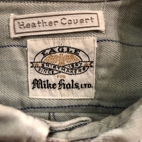 "1950-60s \"" EAGLE - SHIRT MAKERS - \"" ALL cotton VINTAGE - マチ付き - Chalk STRIPE SHIRTS ._d0172088_19123007.jpg"
