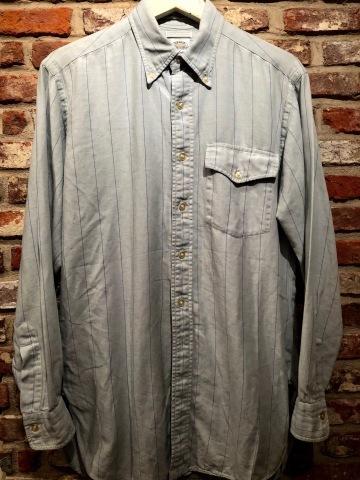 "1950-60s \"" EAGLE - SHIRT MAKERS - \"" ALL cotton VINTAGE - マチ付き - Chalk STRIPE SHIRTS ._d0172088_19232550.jpg"