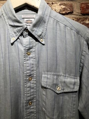 "1950-60s \"" EAGLE - SHIRT MAKERS - \"" ALL cotton VINTAGE - マチ付き - Chalk STRIPE SHIRTS ._d0172088_19234462.jpg"
