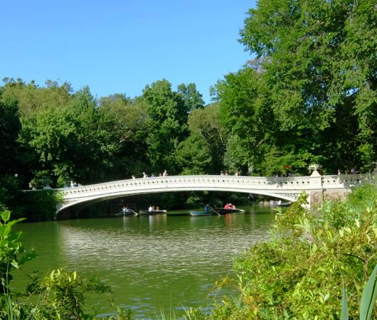 夏のセントラルパーク、美しい小橋、ボウ・ブリッジ(Bow Bridge)に広がる笑顔_b0007805_03410291.jpg