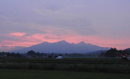 夕焼けの八ヶ岳_e0172950_19335636.jpg