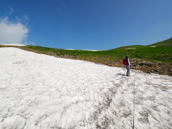 夏の月山 雪渓を越えて_a0351368_23304234.jpg