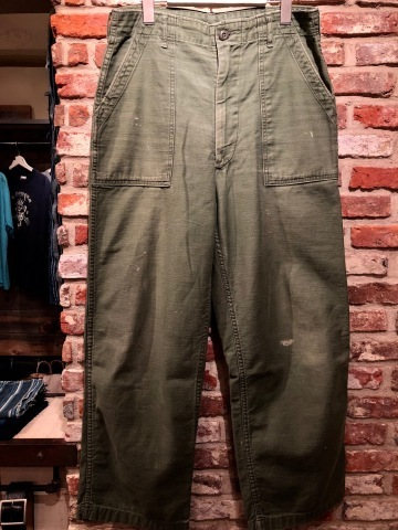 "1970 "" U.S ARMY \"" 100% cotton SATEEN - OG 107 - VINTAGE BAKER PANTS ._d0172088_16073673.jpg"