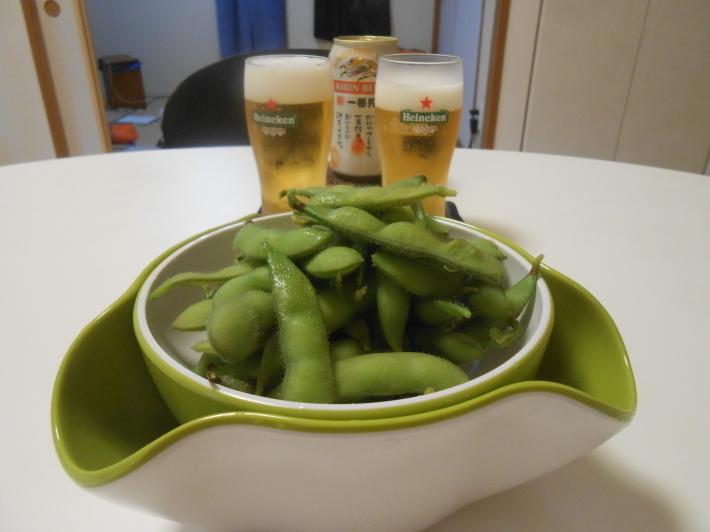 枝豆でビール!_a0095931_16555697.jpg