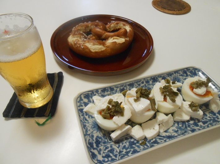 枝豆でビール!_a0095931_16570089.jpg