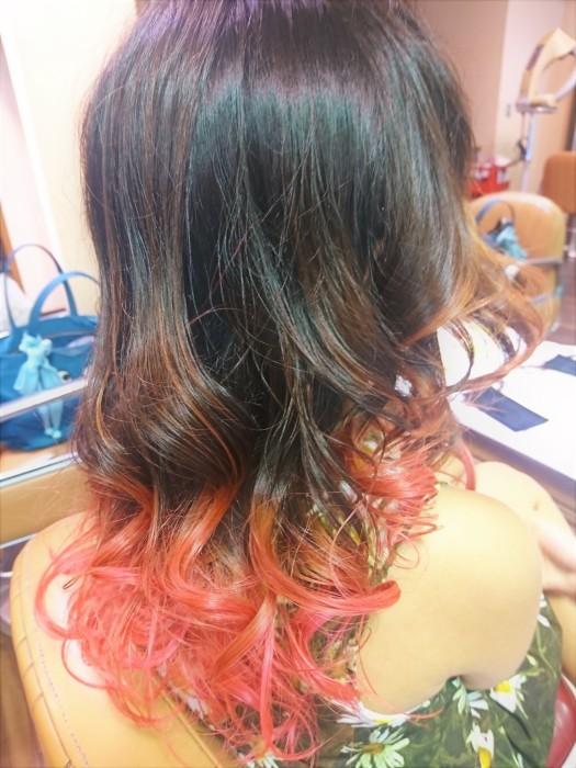 夏のピンク髪!!_a0272765_18053483.jpg