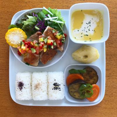 チキンソテー 夏野菜ソース_b0102217_17190367.jpg