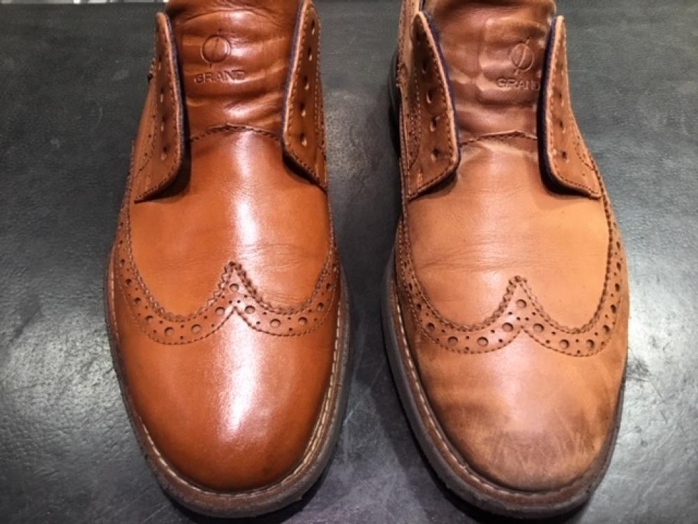 靴の色味より濃いクリームを使ってみました。(前篇)_b0226322_13331885.jpg
