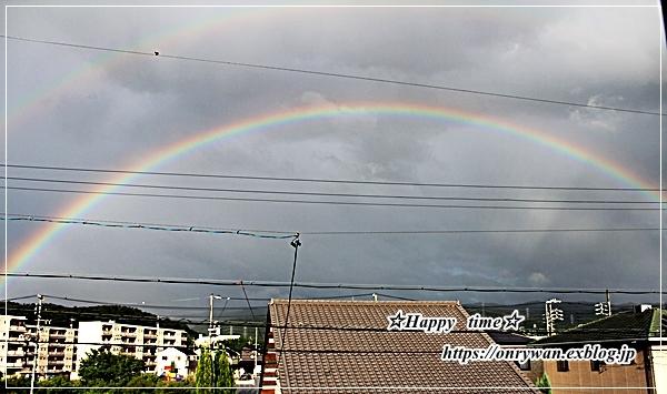 今日のおうちランチと虹♪_f0348032_18204366.jpg