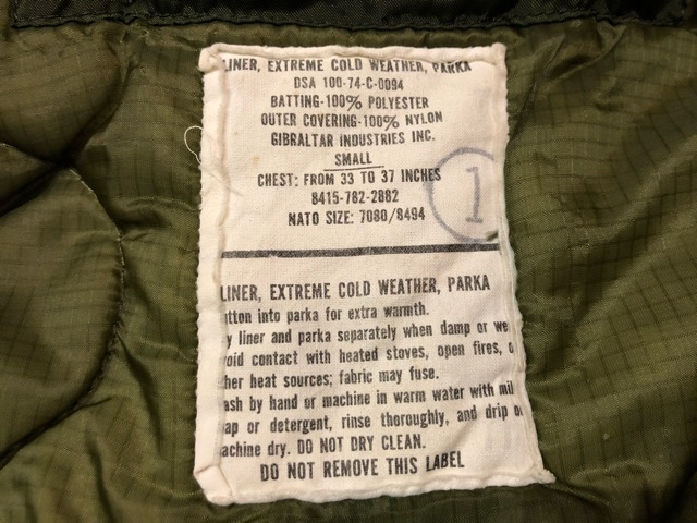 8月17日(土)マグネッツ大阪店、秋スーペリア入荷!! #1 U.S.Military Part1編!M-65 FishtailParka & NightDesertFishtail!!_c0078587_19163380.jpg