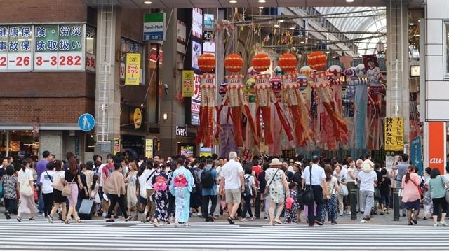 藤田八束の日本の祭り@華やかな仙台七夕まつり、観光客でにぎわう定禅寺通り・・・鉄道写真_d0181492_09020743.jpg