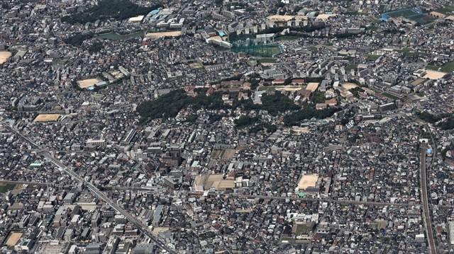 藤田八束の飛行機の魅力@ANAからの情景、飛行機から我が家が見える? 我が町西宮市も良いものだ、伊丹空港の魅力_d0181492_20474794.jpg