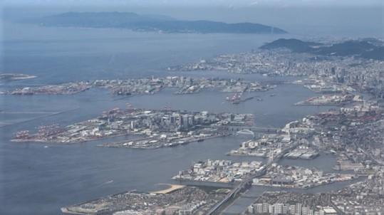 藤田八束の飛行機の魅力@ANAからの情景、飛行機から我が家が見える? 我が町西宮市も良いものだ、伊丹空港の魅力_d0181492_20481974.jpg