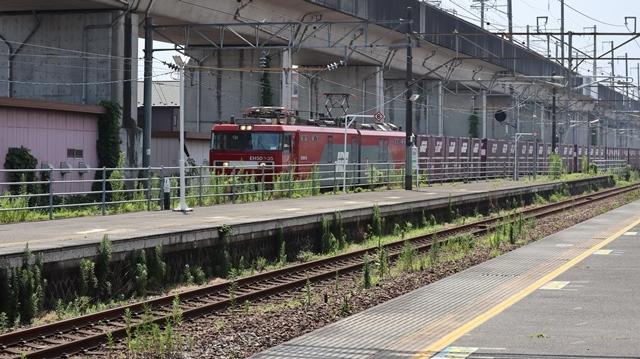 藤田八束の鉄道写真@日韓問題泥沼化する解決の糸口はいかに政治とはこんなにも難しいことか、貨物列車と東北本線東仙台にて_d0181492_20515647.jpg