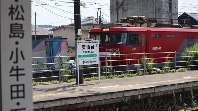 藤田八束の鉄道写真@日韓問題泥沼化する解決の糸口はいかに政治とはこんなにも難しいことか、貨物列車と東北本線東仙台にて_d0181492_20520554.jpg