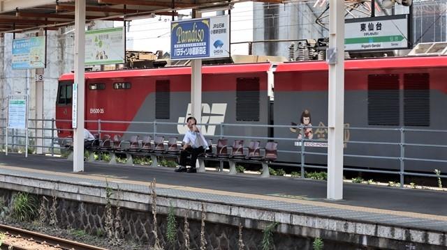藤田八束の鉄道写真@日韓問題泥沼化する解決の糸口はいかに政治とはこんなにも難しいことか、貨物列車と東北本線東仙台にて_d0181492_20521511.jpg