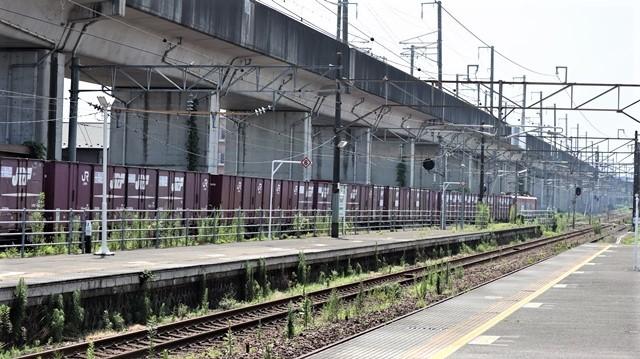 藤田八束の鉄道写真@日韓問題泥沼化する解決の糸口はいかに政治とはこんなにも難しいことか、貨物列車と東北本線東仙台にて_d0181492_20544228.jpg