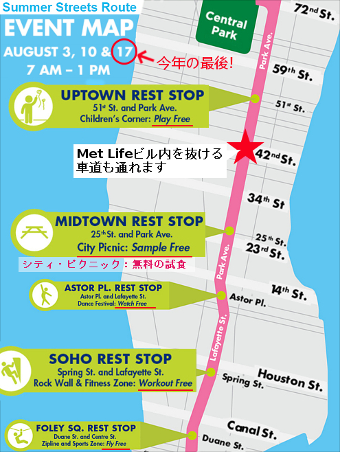 NY最長の歩行者天国イベント、Summer Streets 2019_b0007805_03540214.jpg