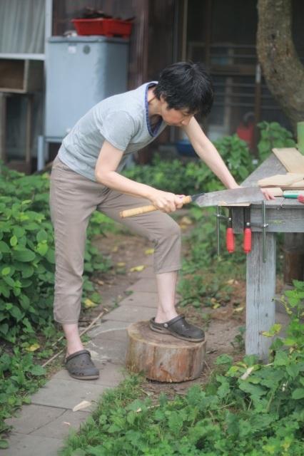 夏休みの工作 小鳥の巣箱作り_d0155147_11552401.jpg