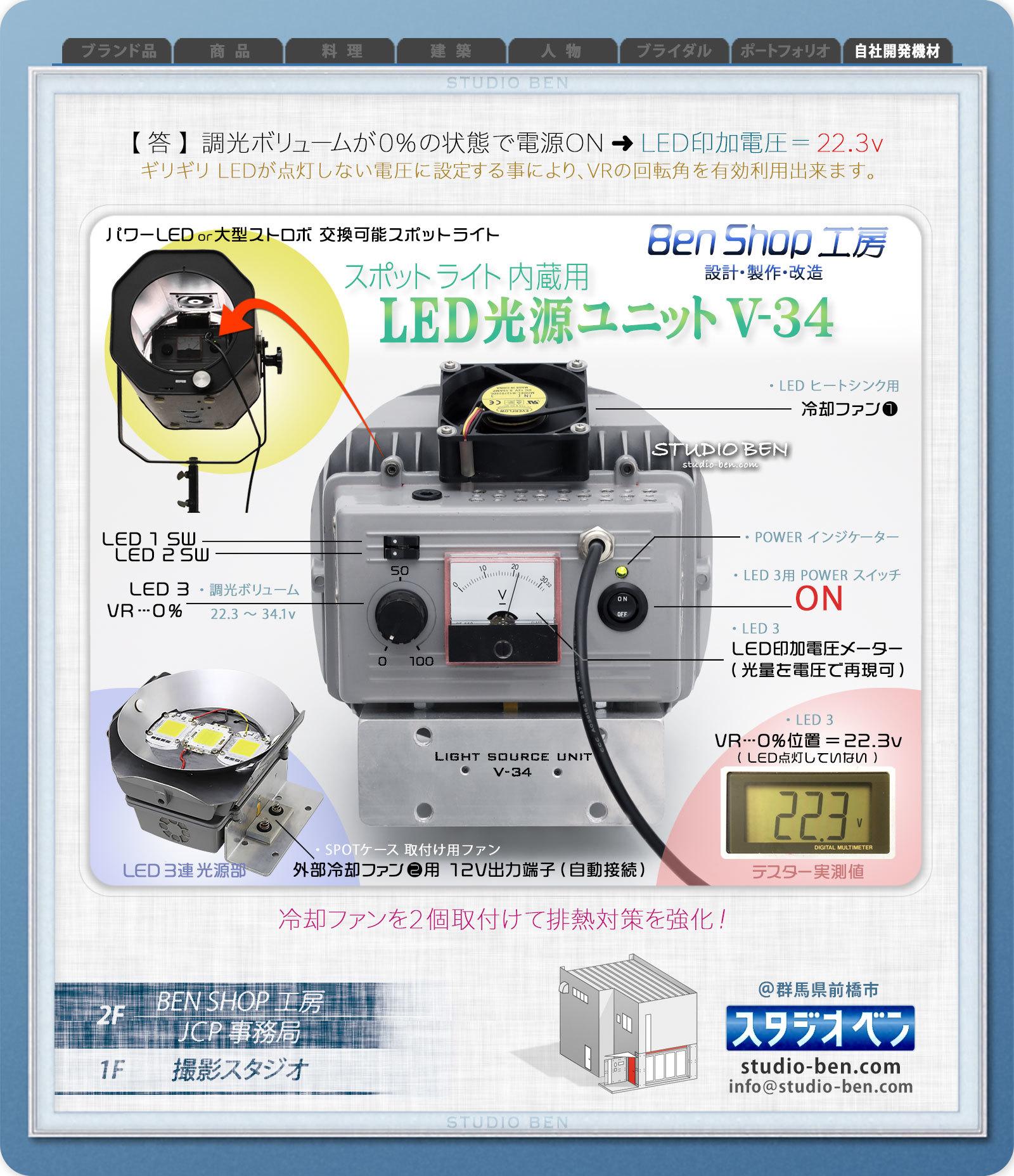 LED照明機材の改良 - No.⑩ / メインLED光源部の改良_c0210599_00224801.jpg
