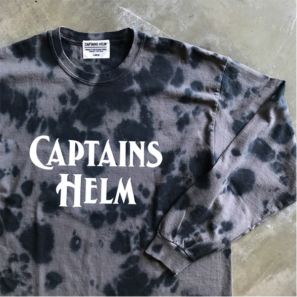 【DELIVERY】 CAPTAINS HELM- #TIE-DYE LOGO L/S TEE_a0076701_18491426.jpg