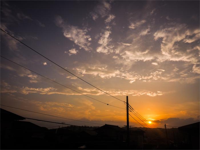 台風過ぎて、夕焼け。_b0022268_18582314.jpg