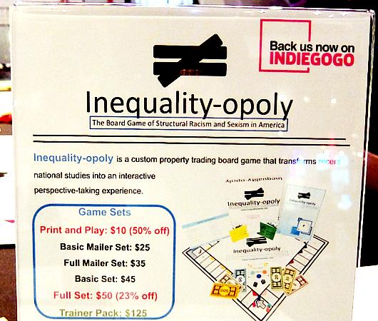 アメリカの人種や性の構造的差別を疑似体験できるボード・ゲーム、Inequality-opoly_b0007805_22201640.jpg
