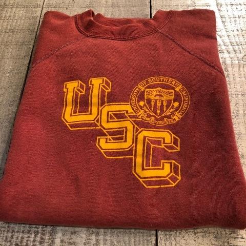 "Late 1960s \"" UNKNOWN \"" ALL cotton BODY VINTAGE - U.S.C - VARSITY S/S SWEAT SHIRTS ._d0172088_16531412.jpg"