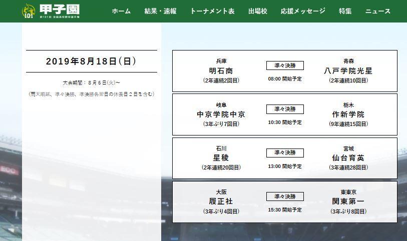 甲子園は準々決勝が一番面白いと思っている…2019/8/18_f0231709_03201644.jpg