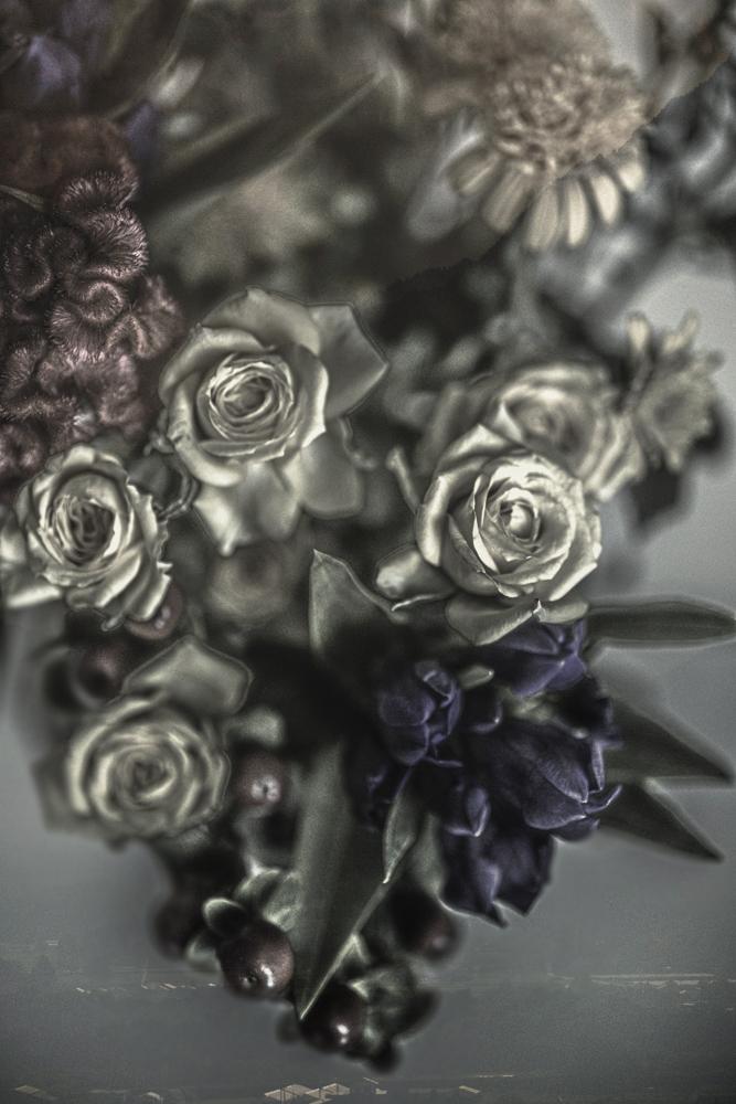 仏花によるヘッドドレス_d0265224_15220572.jpg