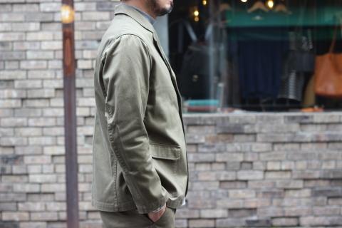 "「WORKERS」今期の限定カラー【Olive】の\""Lounge Jacket\"" ご紹介_f0191324_08232625.jpg"