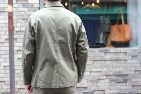 "「WORKERS」今期の限定カラー【Olive】の\""Lounge Jacket\"" ご紹介_f0191324_08234589.jpg"