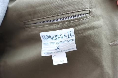 "「WORKERS」今期の限定カラー【Olive】の\""Lounge Jacket\"" ご紹介_f0191324_08244681.jpg"