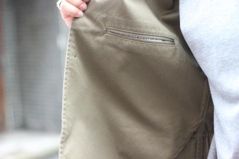 "「WORKERS」今期の限定カラー【Olive】の\""Lounge Jacket\"" ご紹介_f0191324_08250083.jpg"