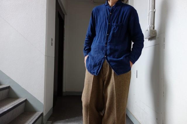10月の製作 / classic shetlandwooltweed trousers_e0130546_14420312.jpg
